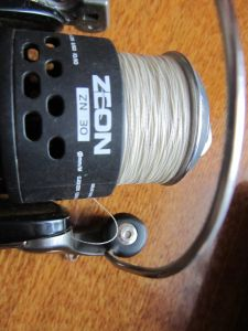 Намотка шнура на шпулю катушки Zeon 30FD