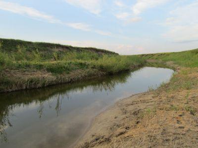 вода в микроречке уже прозрачная